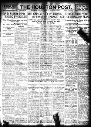 Primary view of object titled 'The Houston Post. (Houston, Tex.), Vol. 24, Ed. 1 Saturday, August 15, 1908'.