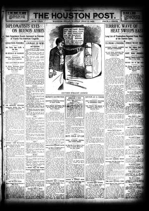 Primary view of object titled 'The Houston Post. (Houston, Tex.), Vol. 26, Ed. 1 Monday, July 11, 1910'.