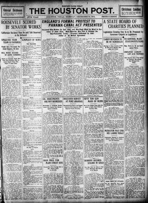 Primary view of object titled 'The Houston Post. (Houston, Tex.), Vol. 27, Ed. 1 Tuesday, December 10, 1912'.