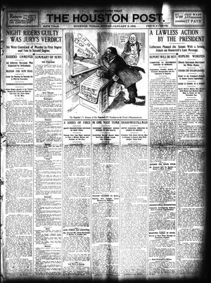 Primary view of object titled 'The Houston Post. (Houston, Tex.), Vol. 24, Ed. 1 Friday, January 8, 1909'.