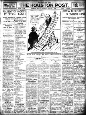Primary view of object titled 'The Houston Post. (Houston, Tex.), Vol. 25, Ed. 1 Sunday, August 8, 1909'.
