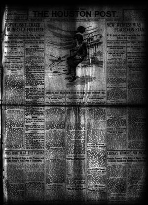 Primary view of object titled 'The Houston Post. (Houston, Tex.), Vol. 27, Ed. 1 Tuesday, February 13, 1912'.