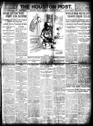 Primary view of object titled 'The Houston Post. (Houston, Tex.), Vol. 27, Ed. 1 Saturday, February 10, 1912'.