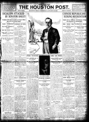 Primary view of object titled 'The Houston Post. (Houston, Tex.), Vol. 27, Ed. 1 Saturday, January 20, 1912'.