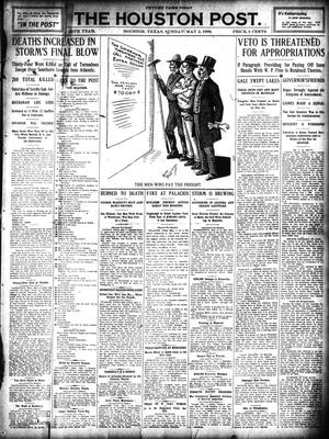 Primary view of object titled 'The Houston Post. (Houston, Tex.), Vol. 25, Ed. 1 Sunday, May 2, 1909'.