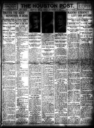 Primary view of object titled 'The Houston Post. (Houston, Tex.), Vol. 26, Ed. 1 Sunday, November 20, 1910'.