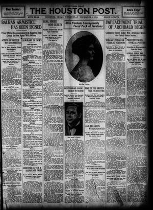 Primary view of object titled 'The Houston Post. (Houston, Tex.), Vol. 27, Ed. 1 Wednesday, December 4, 1912'.