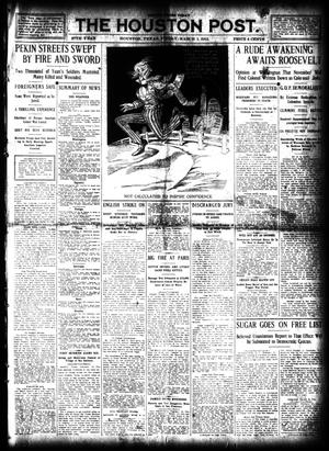 Primary view of object titled 'The Houston Post. (Houston, Tex.), Vol. 27, Ed. 1 Friday, March 1, 1912'.