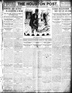 Primary view of object titled 'The Houston Post. (Houston, Tex.), Vol. 24, Ed. 1 Friday, January 29, 1909'.