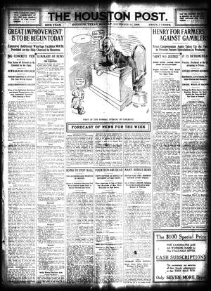 Primary view of object titled 'The Houston Post. (Houston, Tex.), Vol. 24, Ed. 1 Monday, December 14, 1908'.