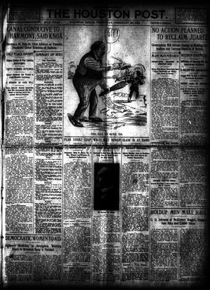 Primary view of object titled 'The Houston Post. (Houston, Tex.), Vol. 27, Ed. 1 Thursday, February 29, 1912'.