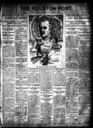 Primary view of object titled 'The Houston Post. (Houston, Tex.), Vol. 26, Ed. 1 Friday, December 2, 1910'.