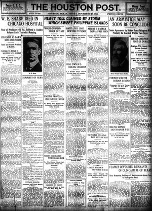 Primary view of object titled 'The Houston Post. (Houston, Tex.), Vol. 27, Ed. 1 Friday, November 29, 1912'.
