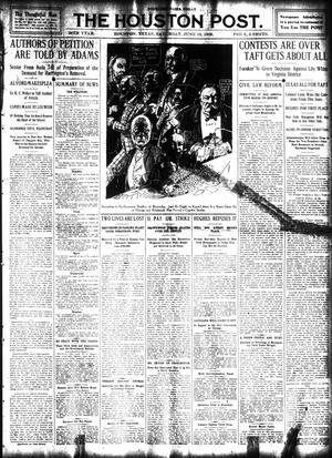 Primary view of object titled 'The Houston Post. (Houston, Tex.), Vol. 24, Ed. 1 Saturday, June 13, 1908'.