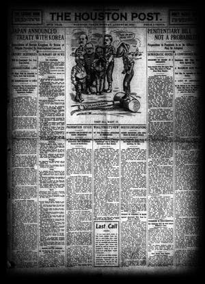 Primary view of object titled 'The Houston Post. (Houston, Tex.), Vol. 26, Ed. 1 Monday, August 29, 1910'.