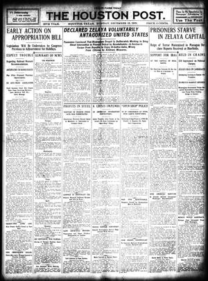 Primary view of object titled 'The Houston Post. (Houston, Tex.), Vol. 25, Ed. 1 Monday, December 13, 1909'.