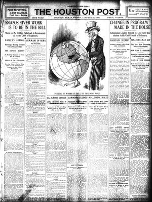 Primary view of object titled 'The Houston Post. (Houston, Tex.), Vol. 24, Ed. 1 Friday, January 22, 1909'.