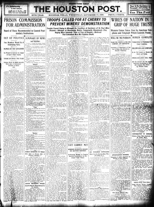Primary view of object titled 'The Houston Post. (Houston, Tex.), Vol. 25, Ed. 1 Wednesday, November 17, 1909'.