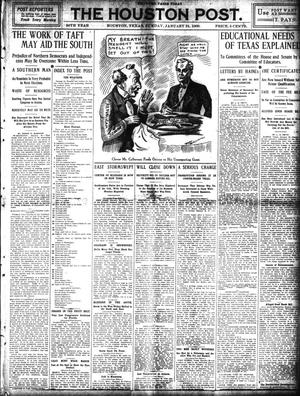 Primary view of object titled 'The Houston Post. (Houston, Tex.), Vol. 24, Ed. 1 Sunday, January 31, 1909'.