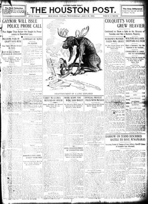 Primary view of object titled 'The Houston Post. (Houston, Tex.), Vol. 27, Ed. 1 Wednesday, July 31, 1912'.