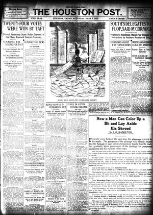 Primary view of object titled 'The Houston Post. (Houston, Tex.), Vol. 27, Ed. 1 Saturday, June 8, 1912'.