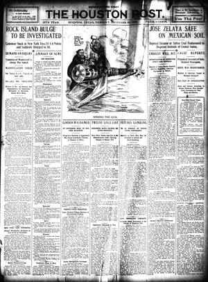 Primary view of object titled 'The Houston Post. (Houston, Tex.), Vol. 25, Ed. 1 Tuesday, December 28, 1909'.