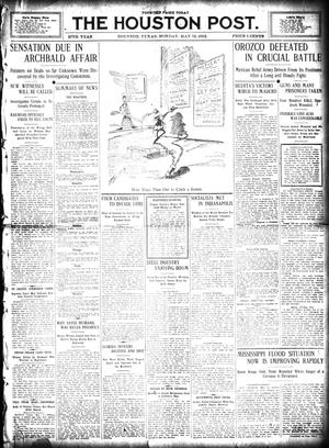 Primary view of object titled 'The Houston Post. (Houston, Tex.), Vol. 27, Ed. 1 Monday, May 13, 1912'.