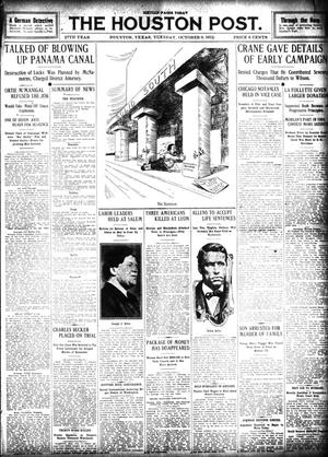 Primary view of object titled 'The Houston Post. (Houston, Tex.), Vol. 27, Ed. 1 Tuesday, October 8, 1912'.