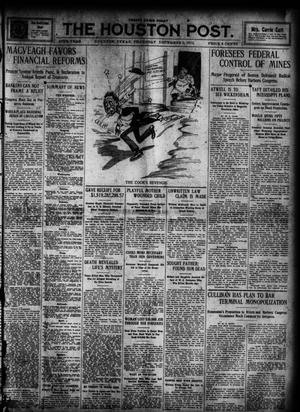 Primary view of object titled 'The Houston Post. (Houston, Tex.), Vol. 27, Ed. 1 Thursday, December 5, 1912'.