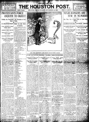 Primary view of object titled 'The Houston Post. (Houston, Tex.), Vol. 24, Ed. 1 Sunday, September 13, 1908'.