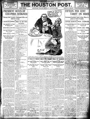 Primary view of object titled 'The Houston Post. (Houston, Tex.), Vol. 25, Ed. 1 Sunday, June 20, 1909'.