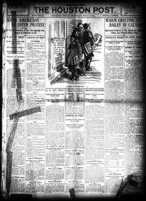 Primary view of object titled 'The Houston Post. (Houston, Tex.), Vol. 26, Ed. 1 Thursday, July 7, 1910'.