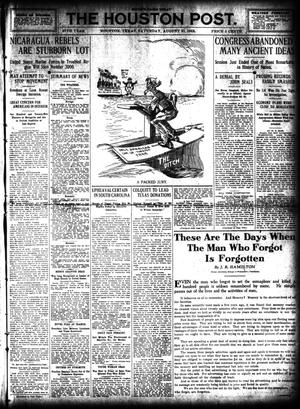 Primary view of object titled 'The Houston Post. (Houston, Tex.), Vol. 27, Ed. 1 Saturday, August 31, 1912'.