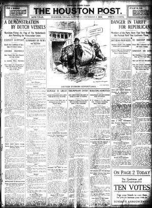 Primary view of object titled 'The Houston Post. (Houston, Tex.), Vol. 24, Ed. 1 Saturday, December 5, 1908'.