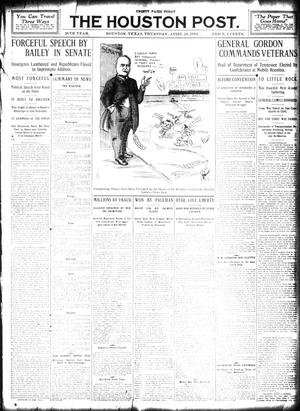 Primary view of object titled 'The Houston Post. (Houston, Tex.), Vol. 26, Ed. 1 Thursday, April 28, 1910'.
