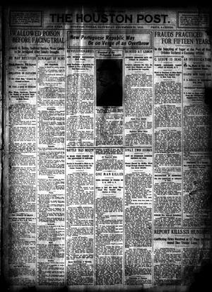 Primary view of object titled 'The Houston Post. (Houston, Tex.), Vol. 26, Ed. 1 Saturday, December 31, 1910'.