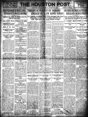 Primary view of object titled 'The Houston Post. (Houston, Tex.), Vol. 24, Ed. 1 Monday, March 29, 1909'.