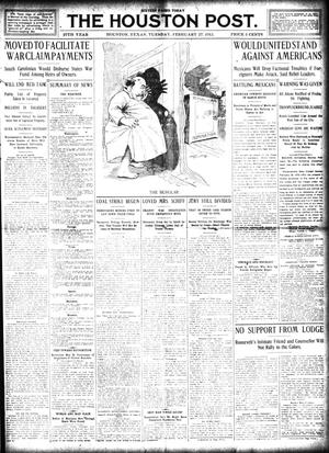 Primary view of object titled 'The Houston Post. (Houston, Tex.), Vol. 27, Ed. 1 Wednesday, March 27, 1912'.