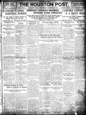 Primary view of object titled 'The Houston Post. (Houston, Tex.), Vol. 27, Ed. 1 Wednesday, October 16, 1912'.