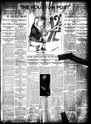 Primary view of object titled 'The Houston Post. (Houston, Tex.), Vol. 24, Ed. 1 Tuesday, August 18, 1908'.