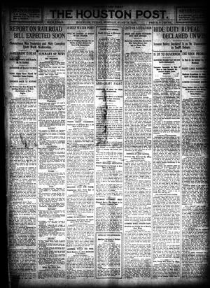 Primary view of object titled 'The Houston Post. (Houston, Tex.), Vol. 26, Ed. 1 Monday, June 13, 1910'.