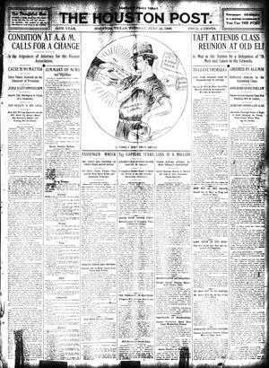 Primary view of object titled 'The Houston Post. (Houston, Tex.), Vol. 24, Ed. 1 Tuesday, June 23, 1908'.