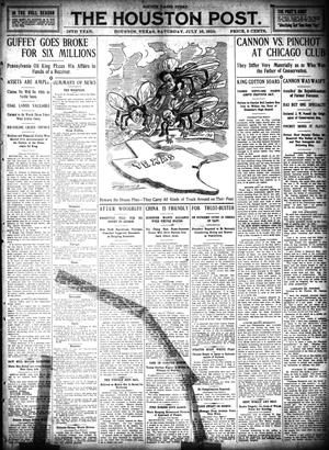 Primary view of object titled 'The Houston Post. (Houston, Tex.), Vol. 26, Ed. 1 Saturday, July 16, 1910'.
