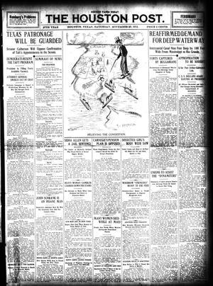 Primary view of The Houston Post. (Houston, Tex.), Vol. 27, Ed. 1 Saturday, November 23, 1912