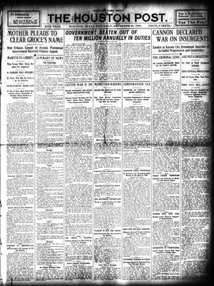 Primary view of object titled 'The Houston Post. (Houston, Tex.), Vol. 25, Ed. 1 Saturday, November 27, 1909'.