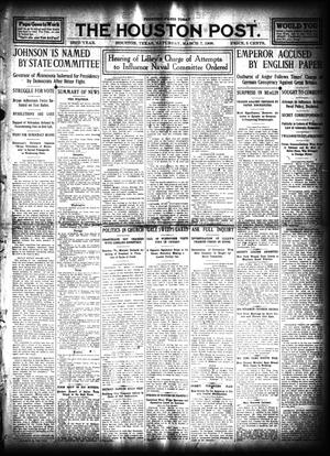 Primary view of object titled 'The Houston Post. (Houston, Tex.), Vol. 23, Ed. 1 Saturday, March 7, 1908'.