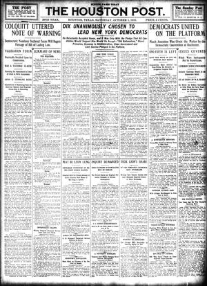 Primary view of object titled 'The Houston Post. (Houston, Tex.), Vol. 26, Ed. 1 Saturday, October 1, 1910'.