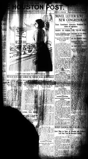 Primary view of object titled 'The Houston Post. (Houston, Tex.), Vol. 27, Ed. 1 Monday, January 1, 1912'.