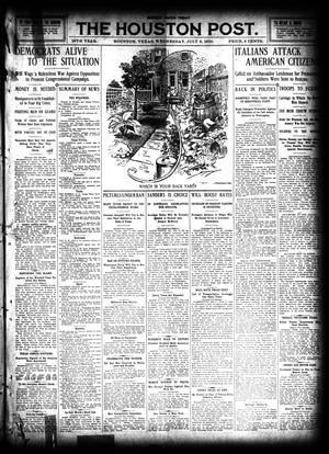 Primary view of object titled 'The Houston Post. (Houston, Tex.), Vol. 26, Ed. 1 Wednesday, July 6, 1910'.