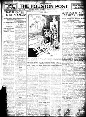 Primary view of object titled 'The Houston Post. (Houston, Tex.), Vol. 24, Ed. 1 Thursday, October 29, 1908'.